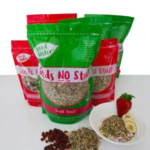 Seed Sister 1kg Seeds no fruit serving suggestion 1