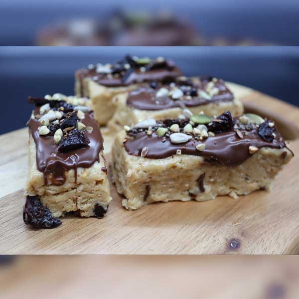 Seed Sister Recipe No Bake Peanut Butter & Tart Cherry Protein Bars